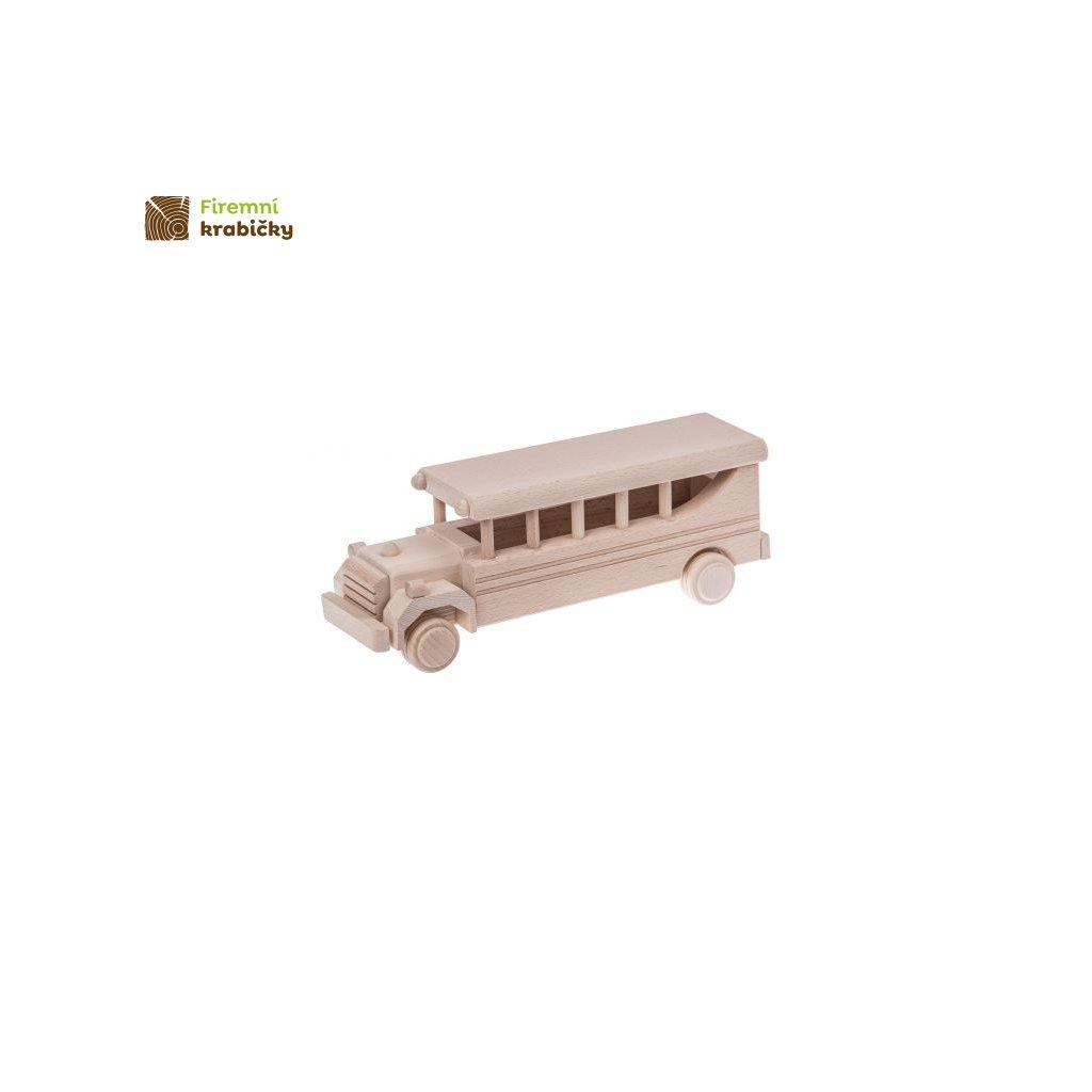 autobus retro drewniana zabawka