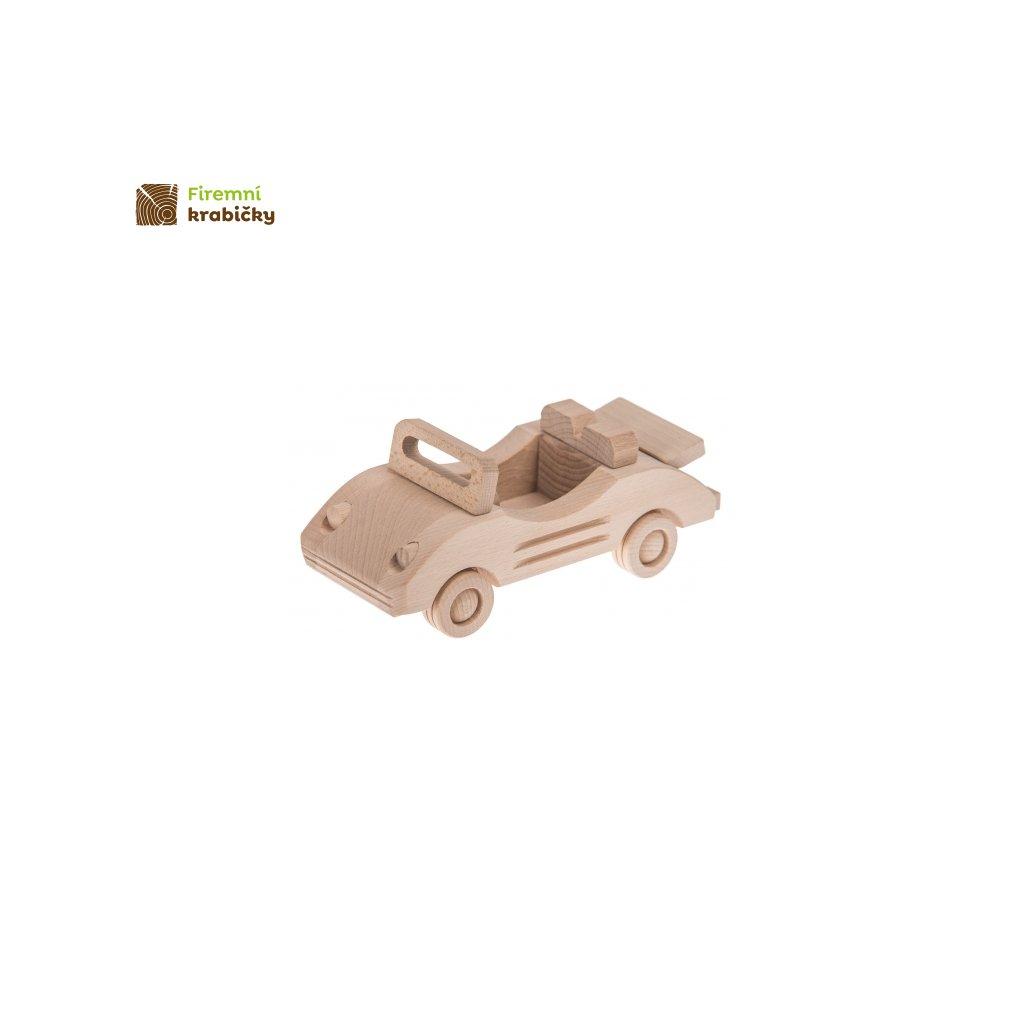 kabriolet drewniana zabawka