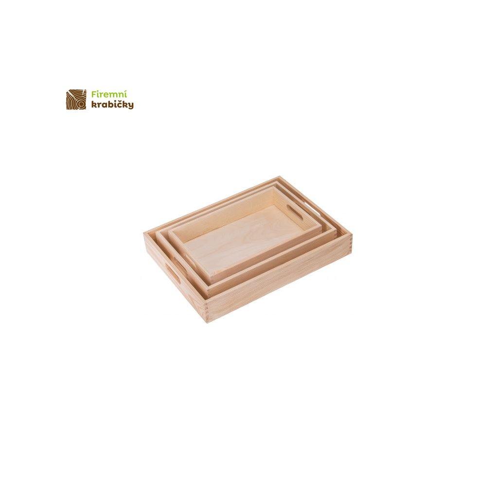 taca drewniana sosnowa 1 kpl 3szt