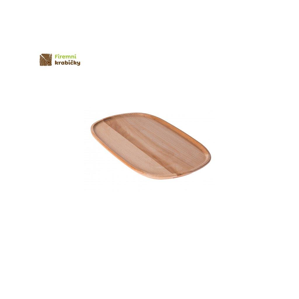 talerz drewniany owalny duzy 31x20cm eko