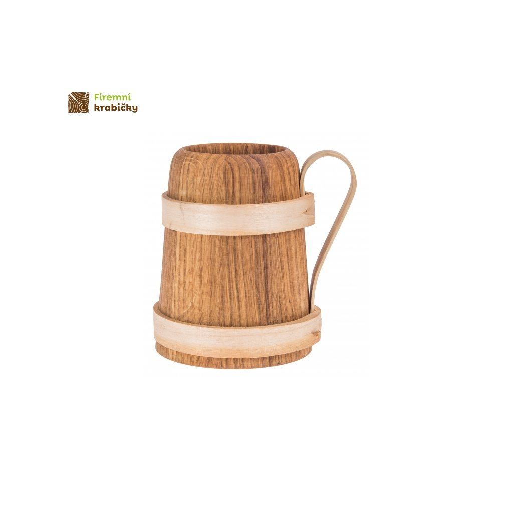kufel waski drewniany