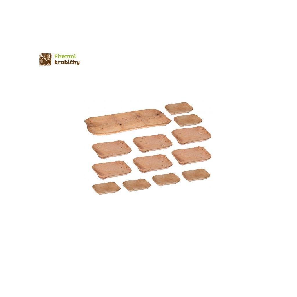 koryto drewniane 12 talerzykow