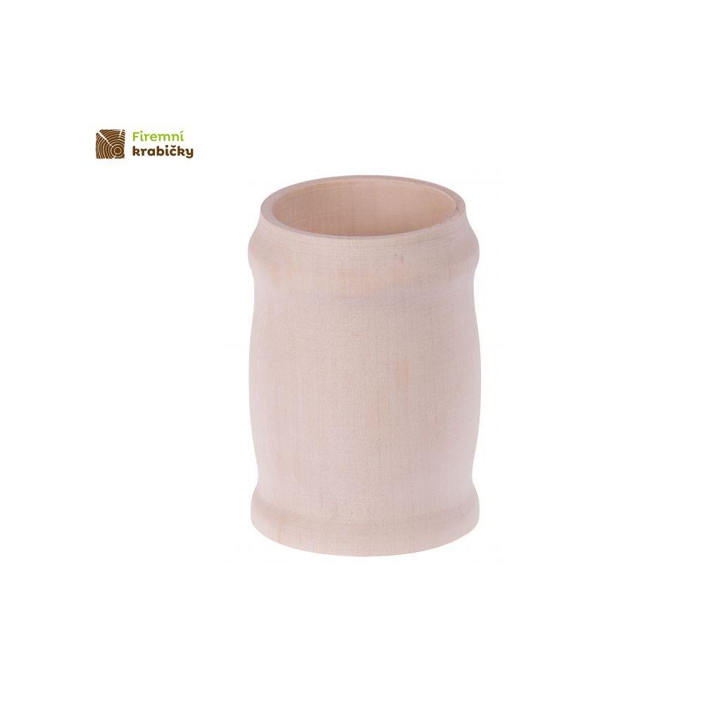 drewniany kufel kubek