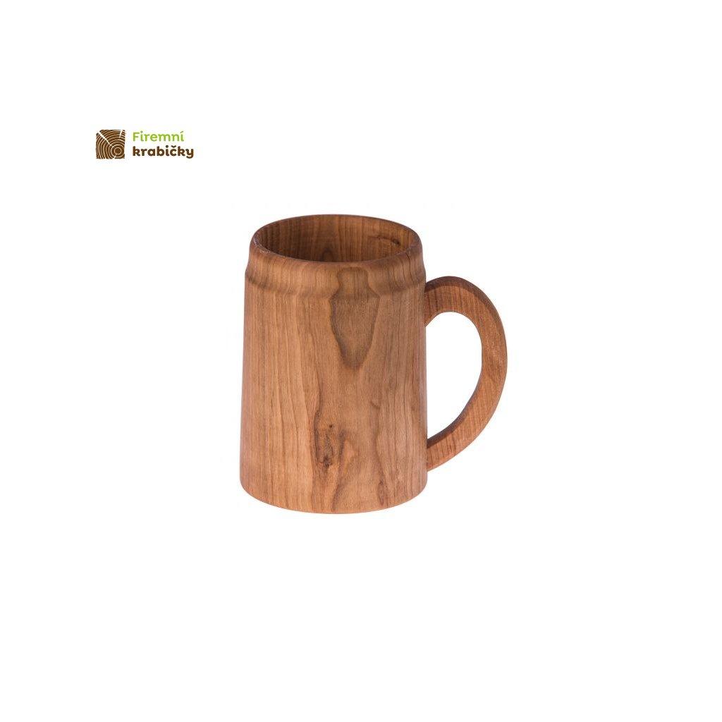 drewniany kufel kubek z raczka