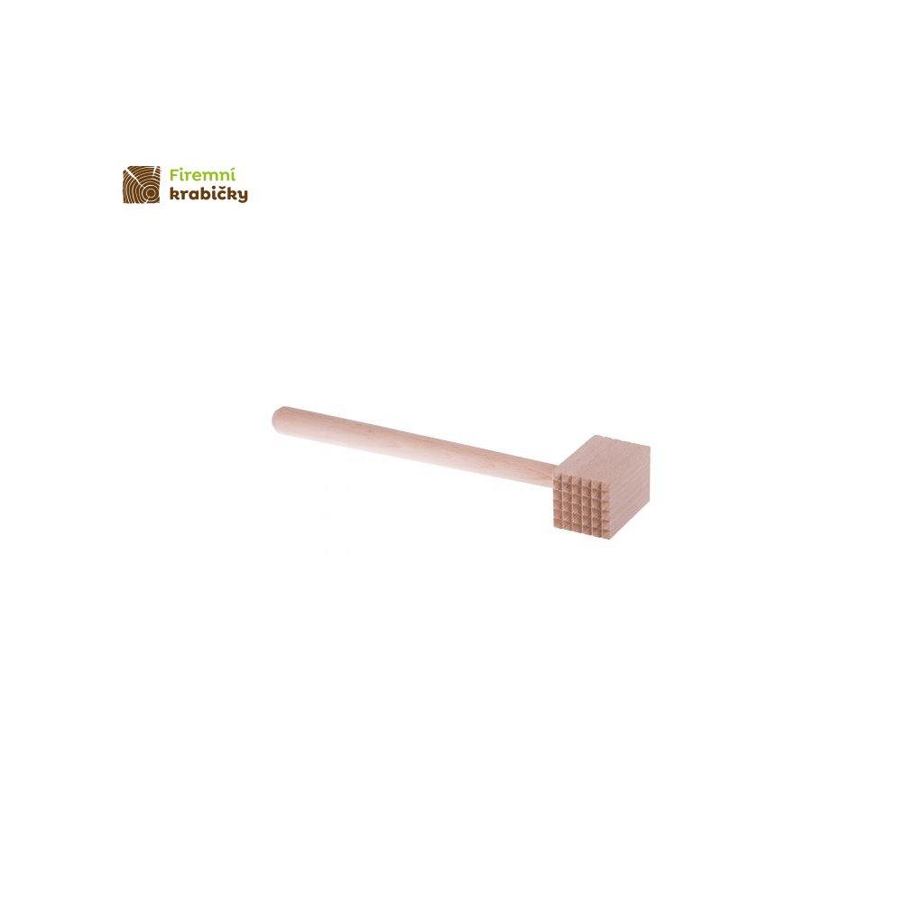 tluczek do miesa kwadratowy drewniany 30 cm