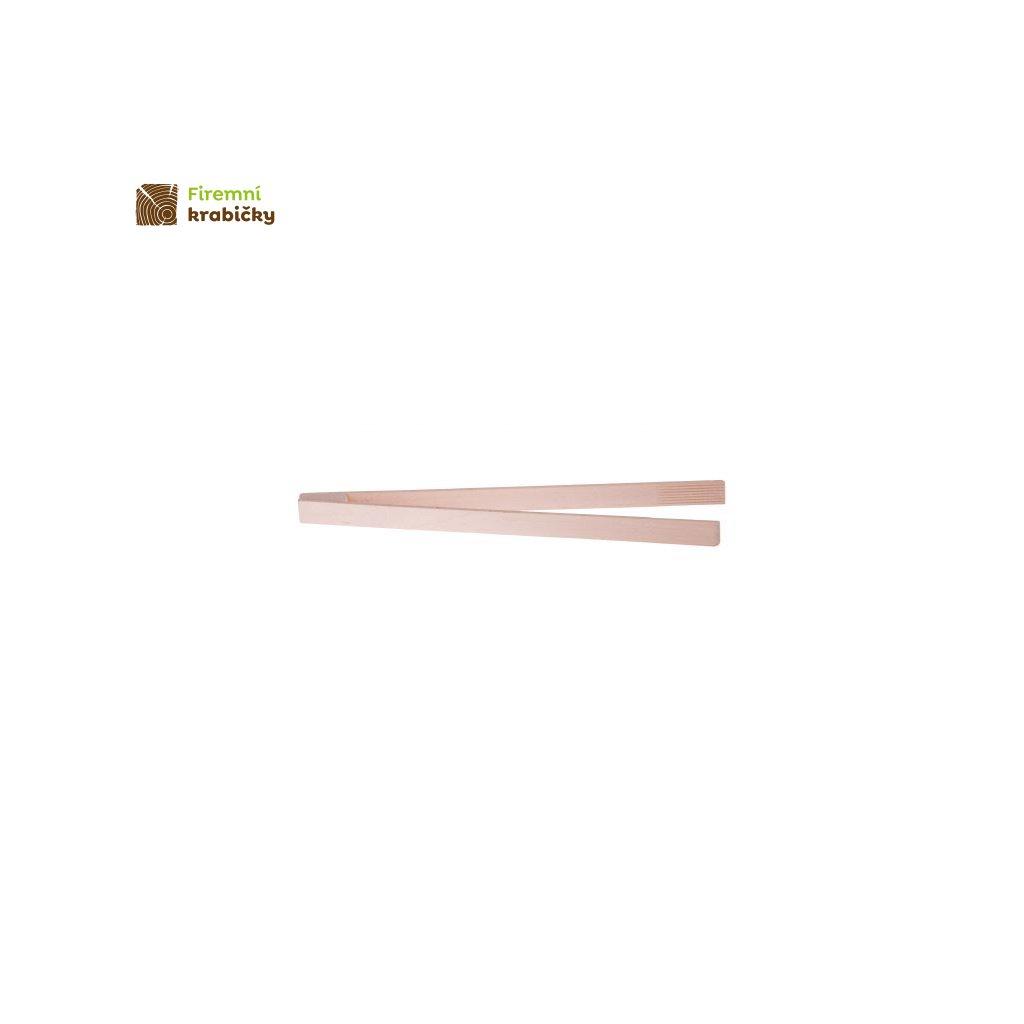 szczypce do grilla drewniane 32 cm