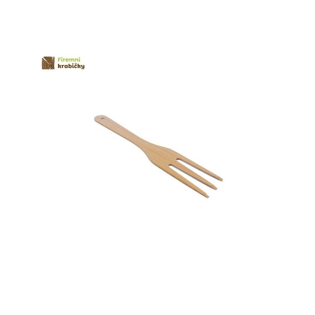 drewniany widelec 3 zebowy duzy