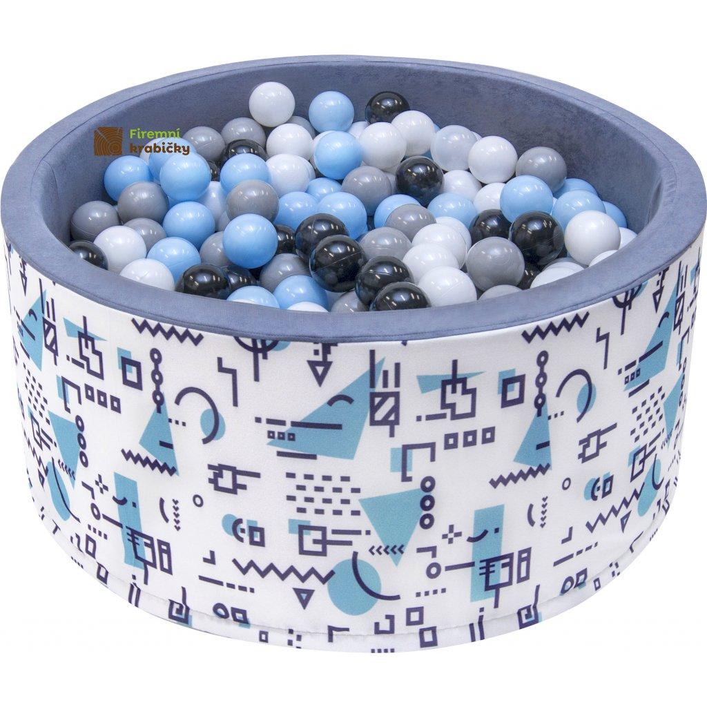 14696 detsky bazenek s micky modry motiv 200 ks micku
