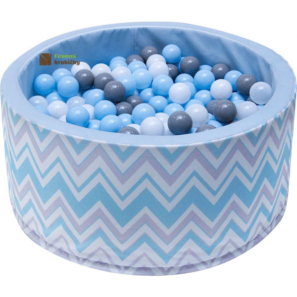 14702 detsky bazenek s micky modro sedy zigzag 200 ks micku