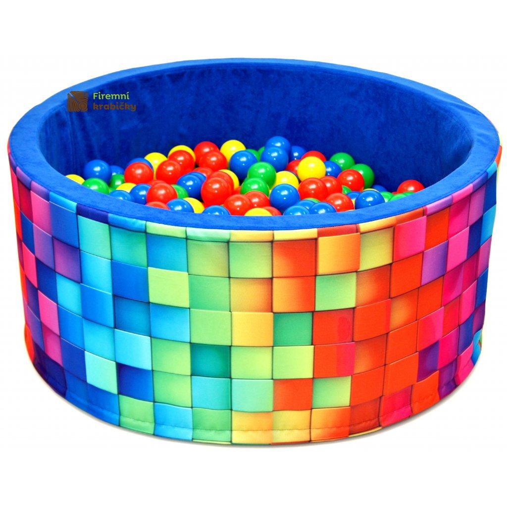 14711 detsky bazenek s micky barevny tetris 200 ks micku