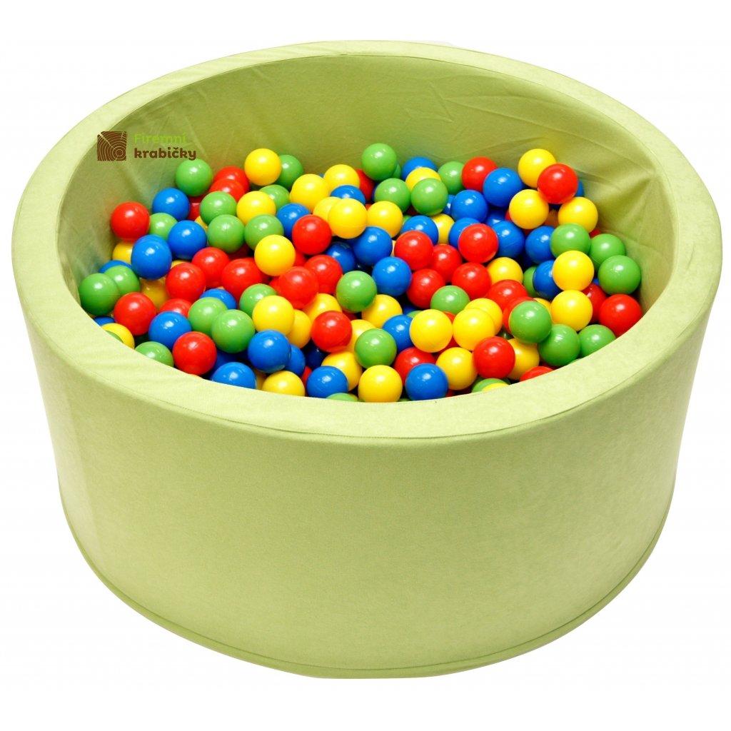 14714 detsky bazenek s micky zeleny 200 ks micku