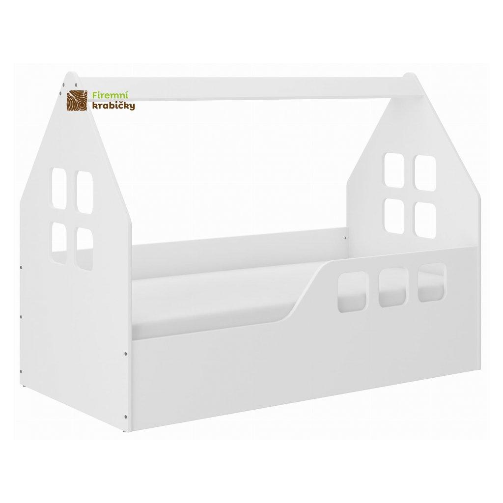 26288 1 detska postel ve tvaru domecku 160 x 80 cm bila