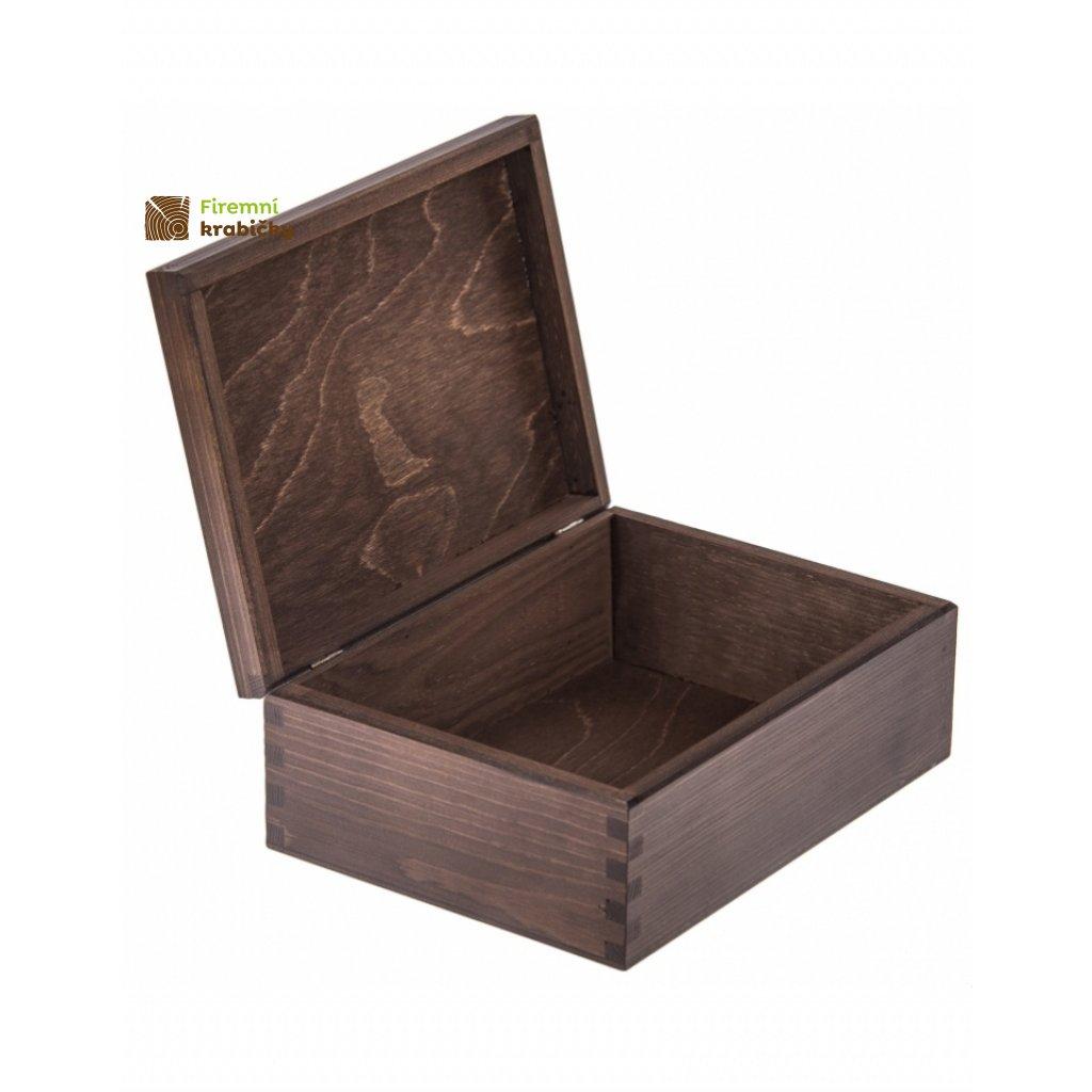 11783 drevena krabicka tmave hneda
