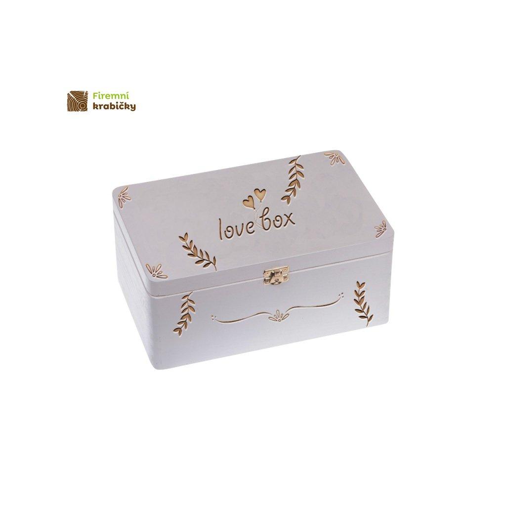 11990 dreveny lovebox bily
