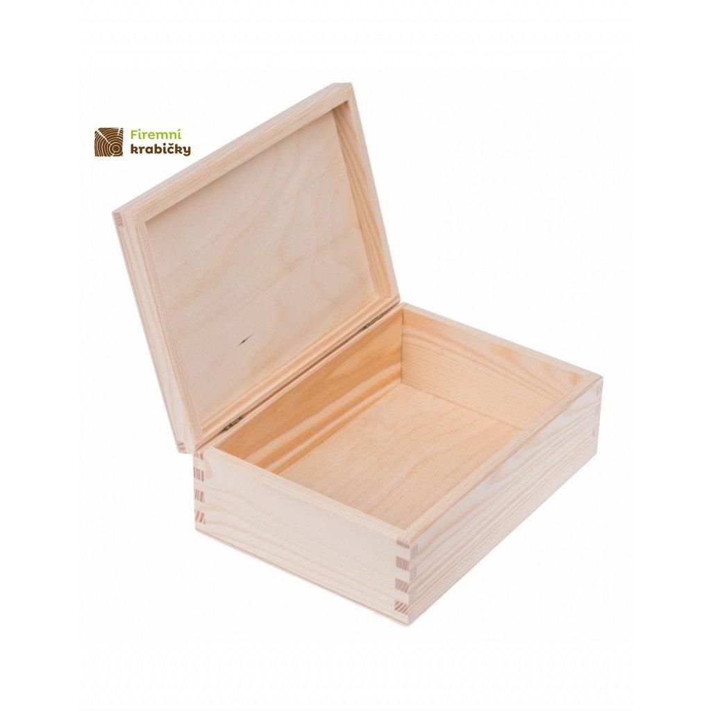 12263 drevena krabicka natural 22 x 16 cm