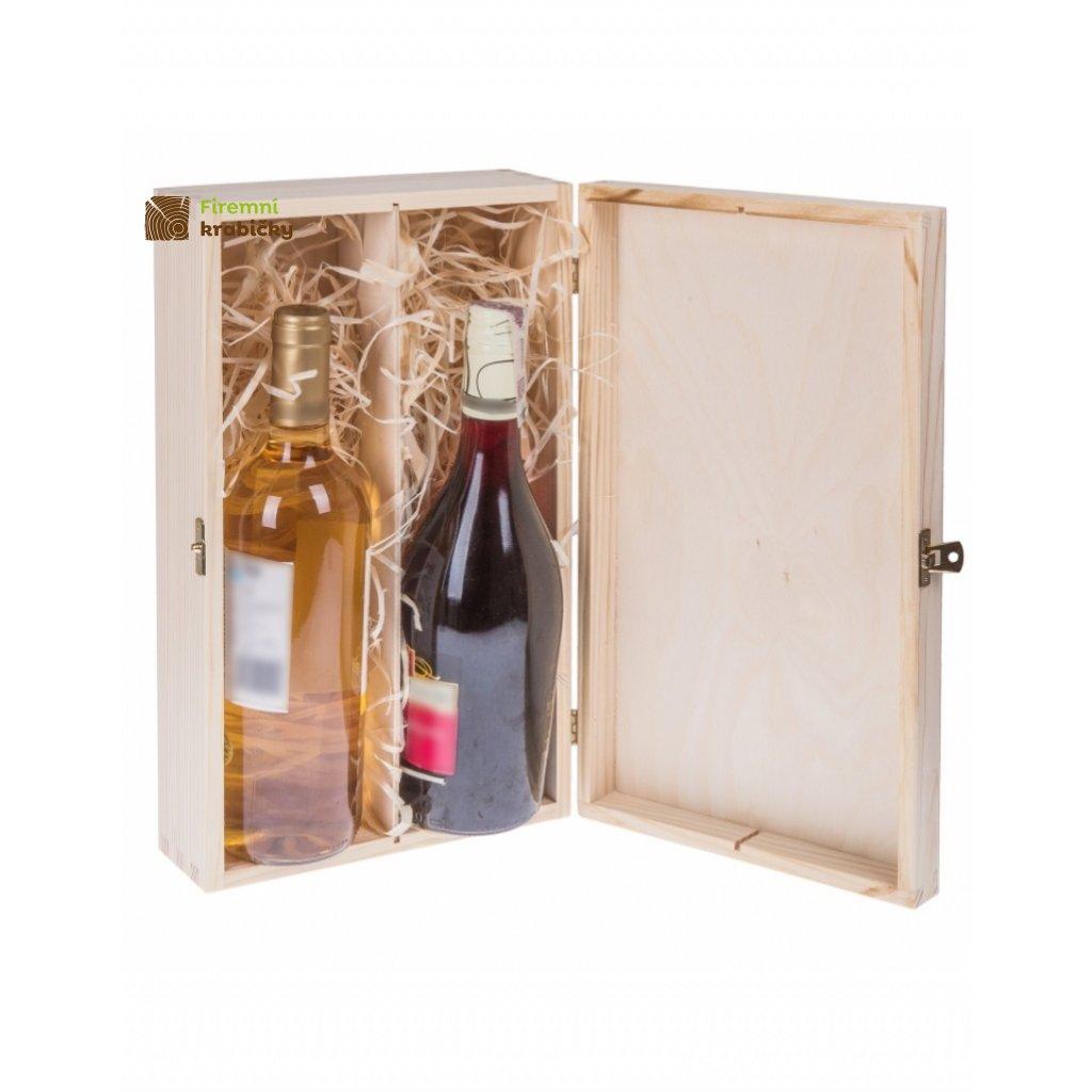 12272 drevena krabicka na 2 lahve vina
