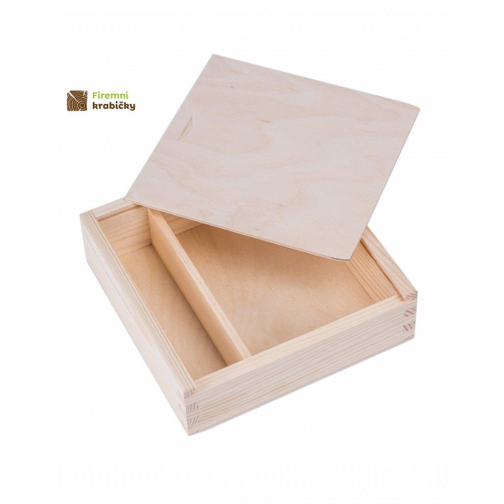 12287 drevena krabicka na fotky vysouvaci poklop