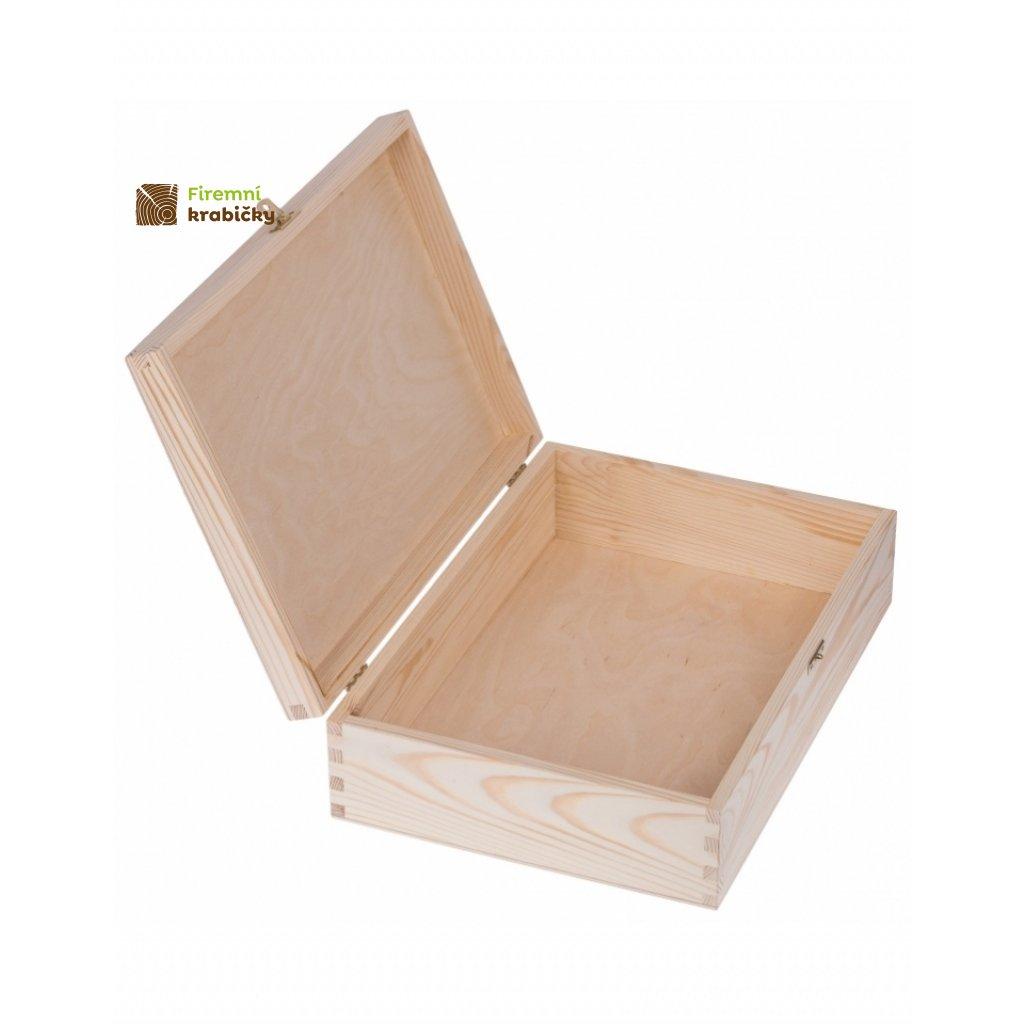 12602 drevena krabicka 25 x 30 cm prirodni
