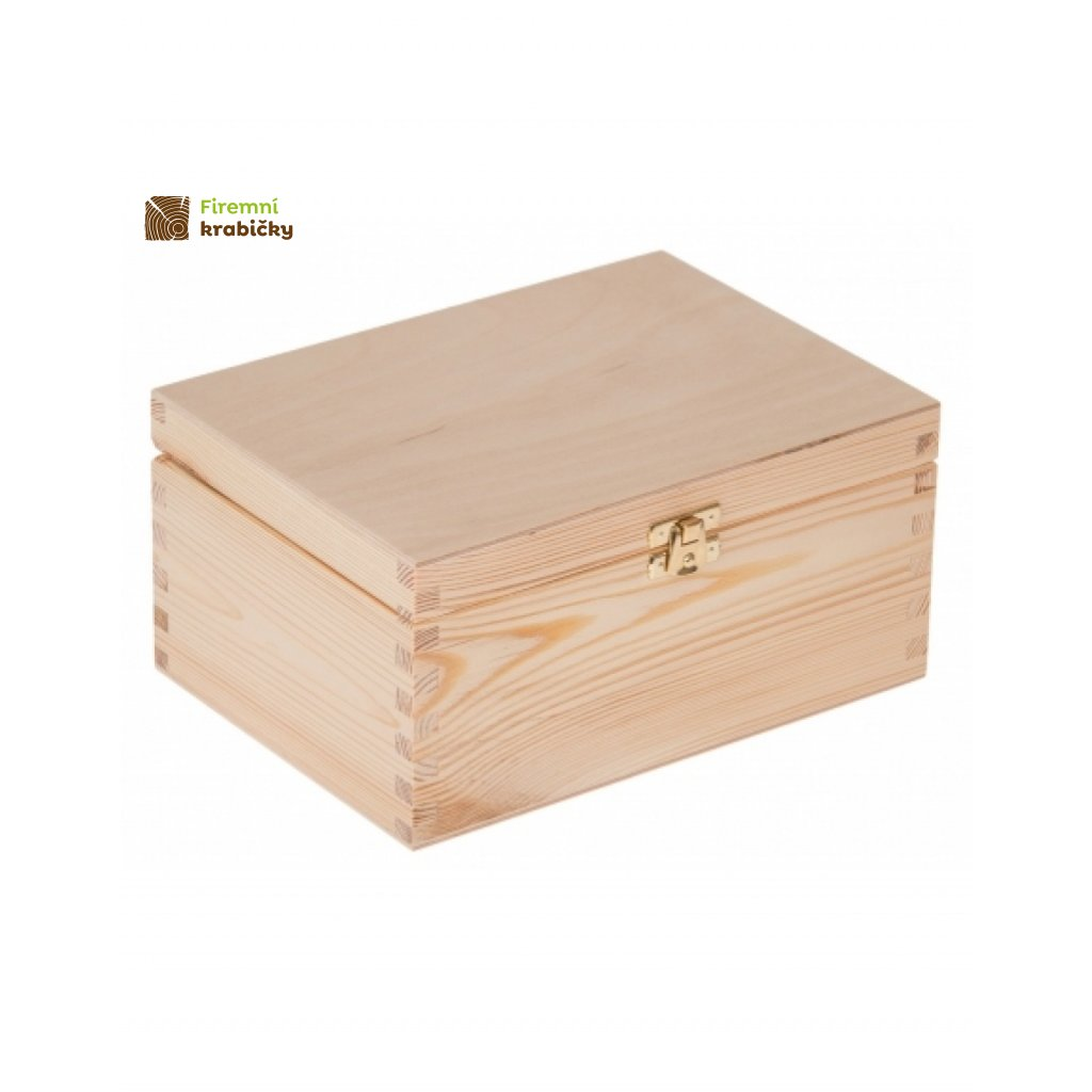 12626 drevena krabicka 22 x 16 cm prirodni