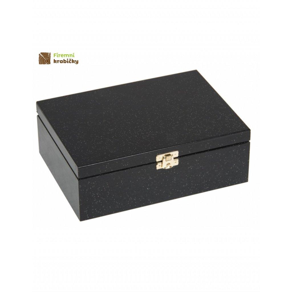 12635 drevena krabicka 22 x 16 cm brokatova