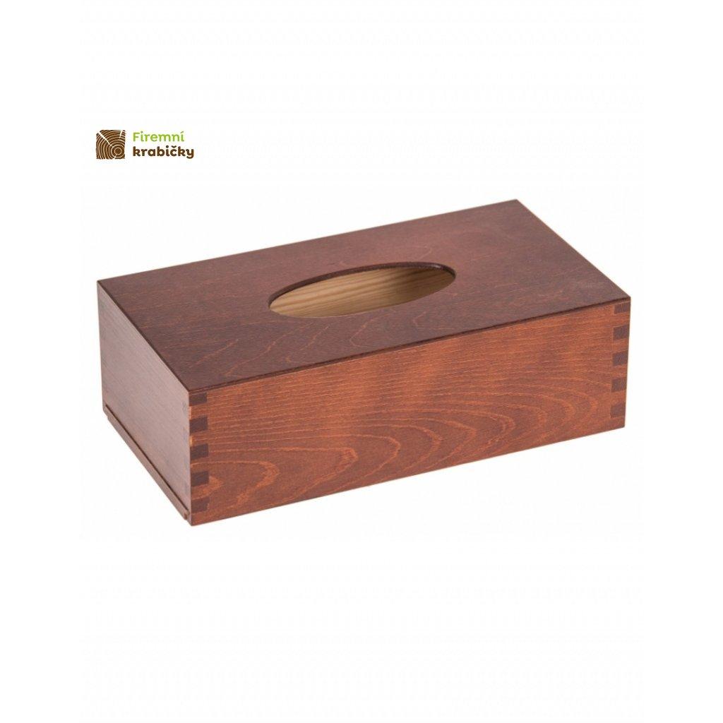 12638 drevena krabicka na kapesniky orech