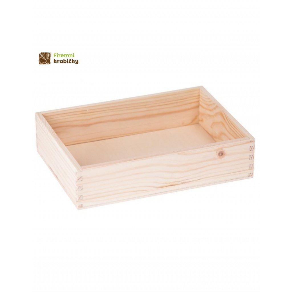 13076 drevena krabicka 22x16 cm