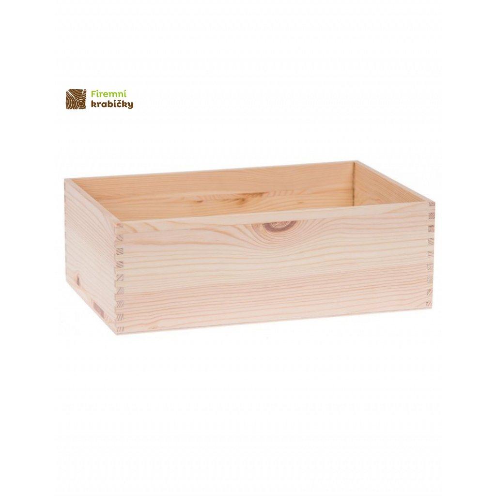13085 drevena krabicka 30x20x10 cm