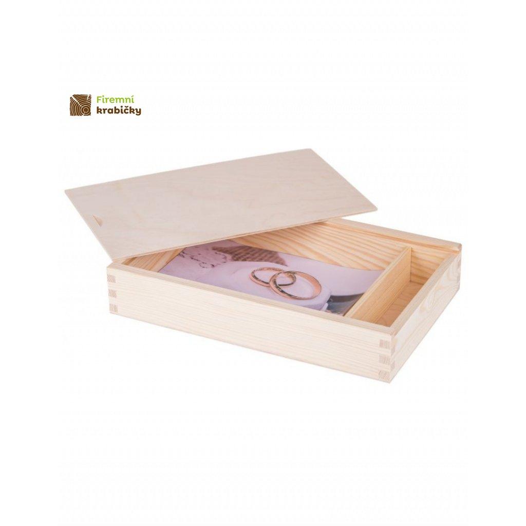 13097 drevena krabicka 18x13cm