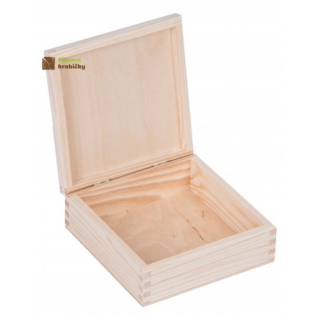 13214 drevena krabicka 14x14 cm