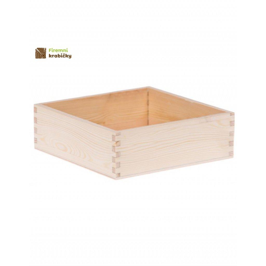 13268 drevena krabicka 16x16 cm