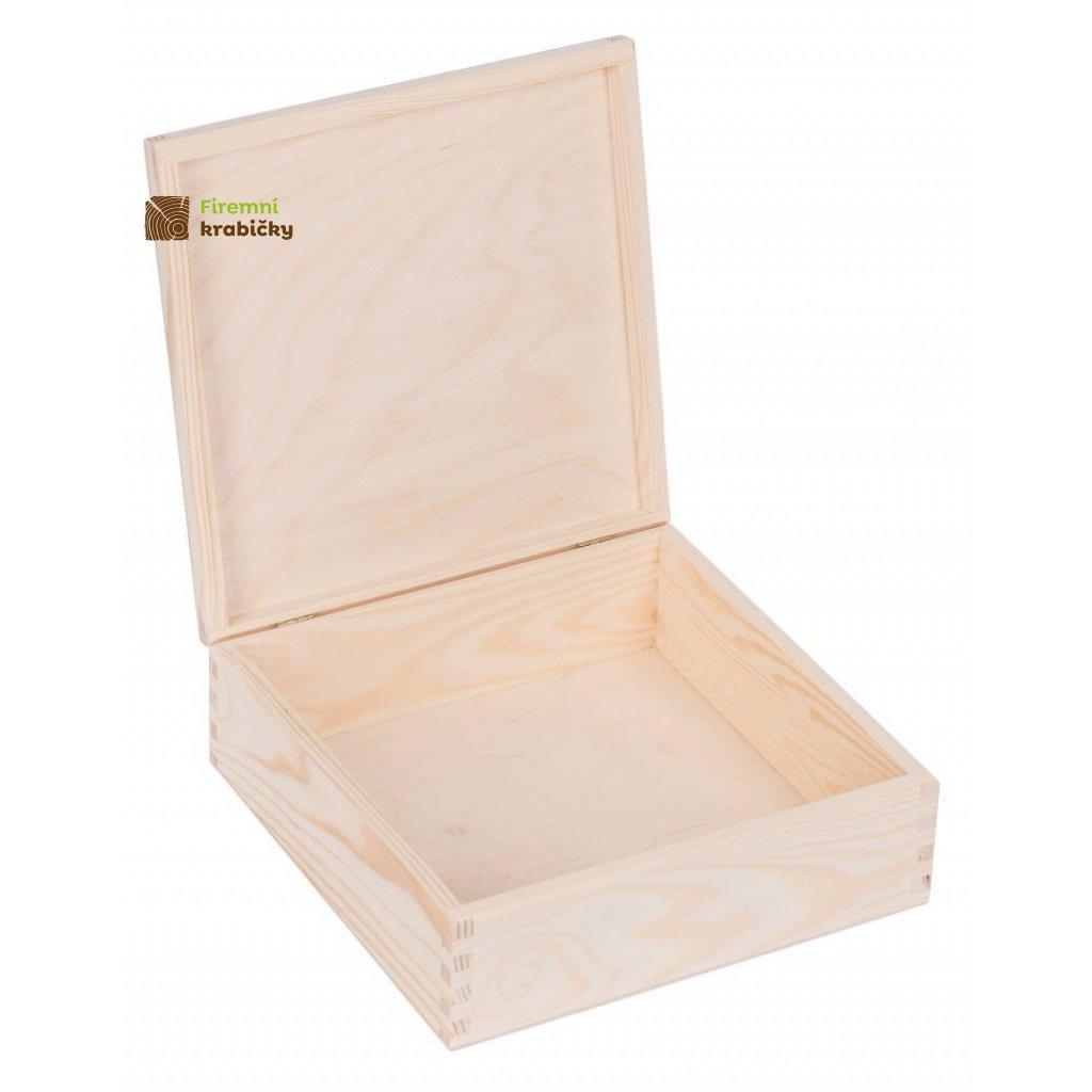 13286 drevena krabicka 22x22 cm