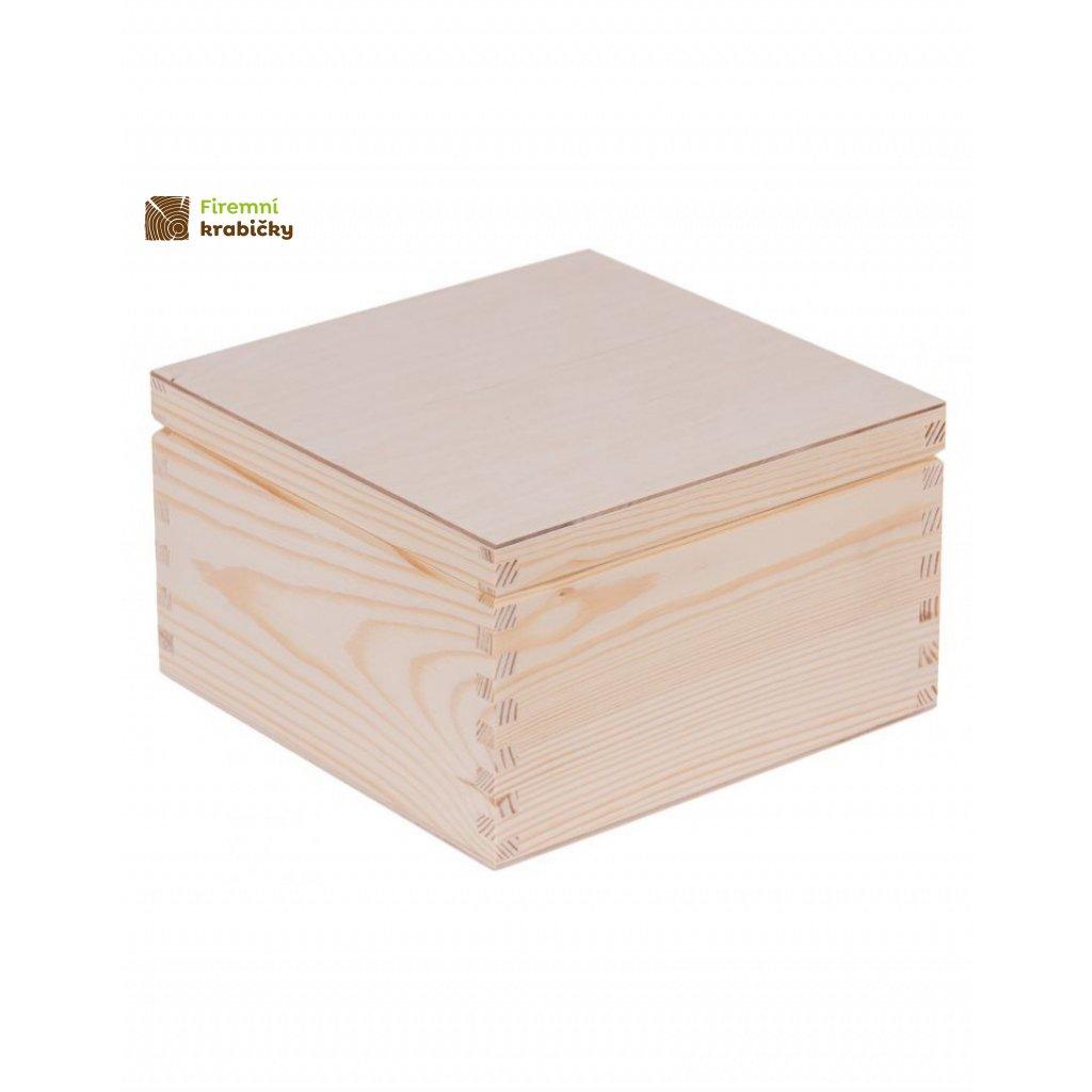 13292 drevena krabicka 20x20 cm