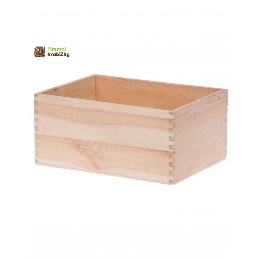 13310 drevena krabicka 22x16x10 cm