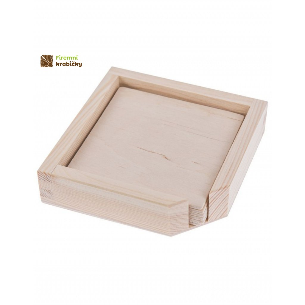 13328 drevena krabicka ulozny prostor na podtacky 6 podtacku