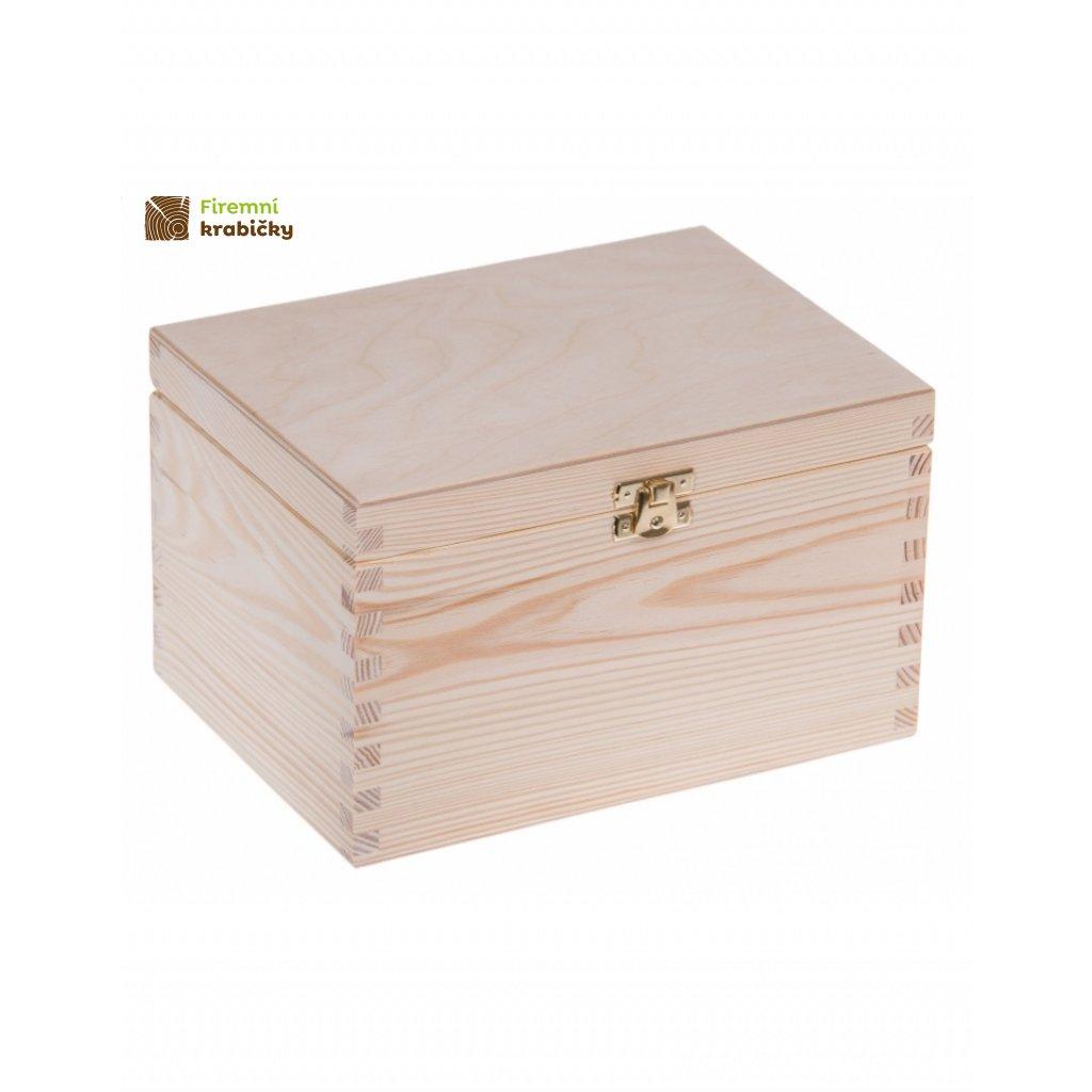 13346 drevena krabicka 22x16x13 5 cm se sponou