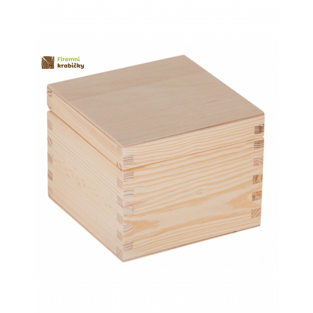 13364 drevena krabicka 16x16x13 cm