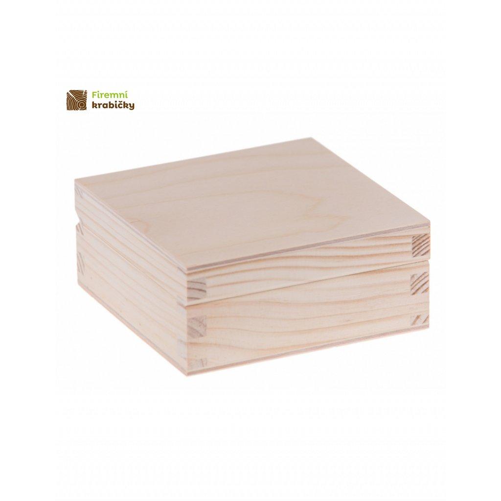 13370 drevena krabicka 11x11cm
