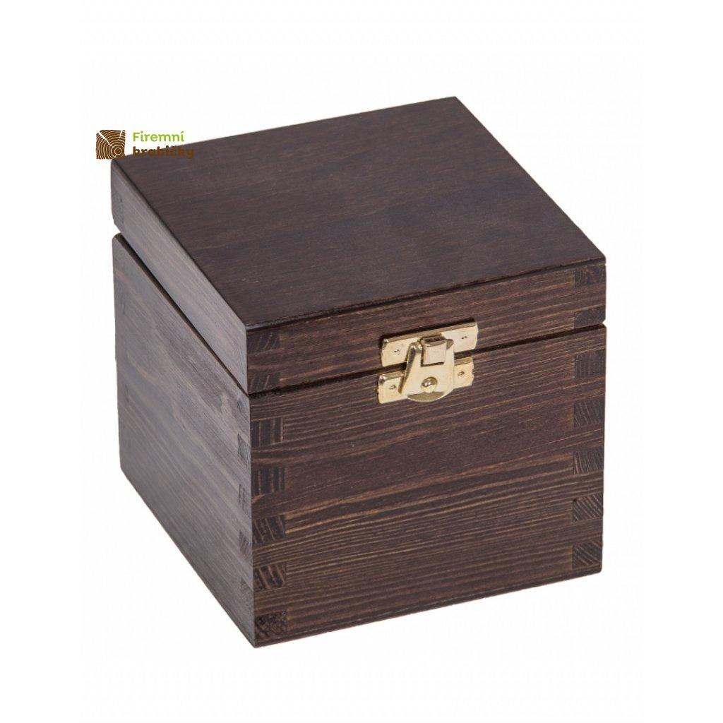 13376 drevena krabicka 11x11x10 5 se sponou