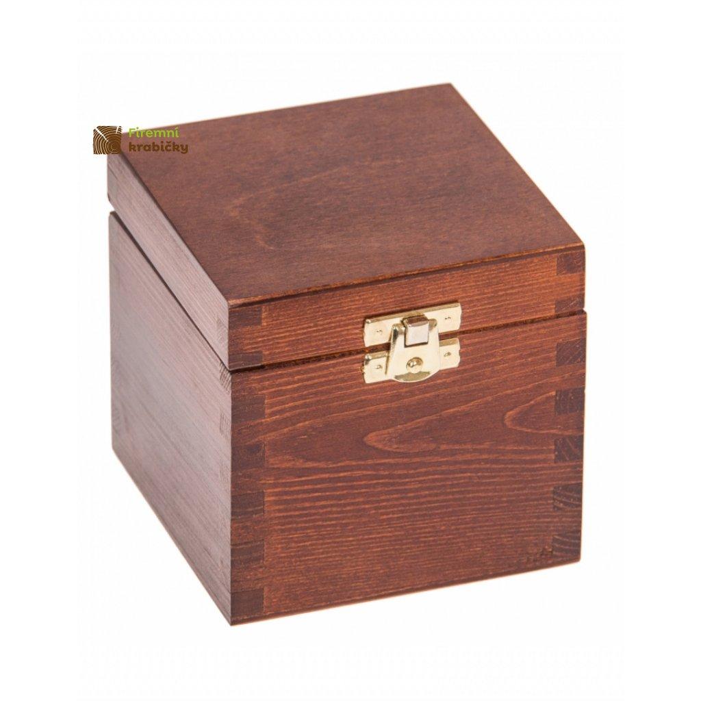 13379 drevena krabicka 11x11x10 5 se sponou orech