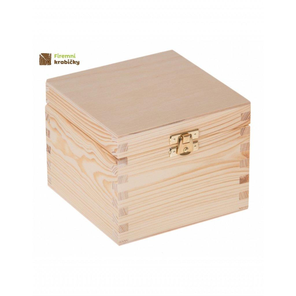 13412 drevena krabicka 13 5x13 5x10 5cm svetla