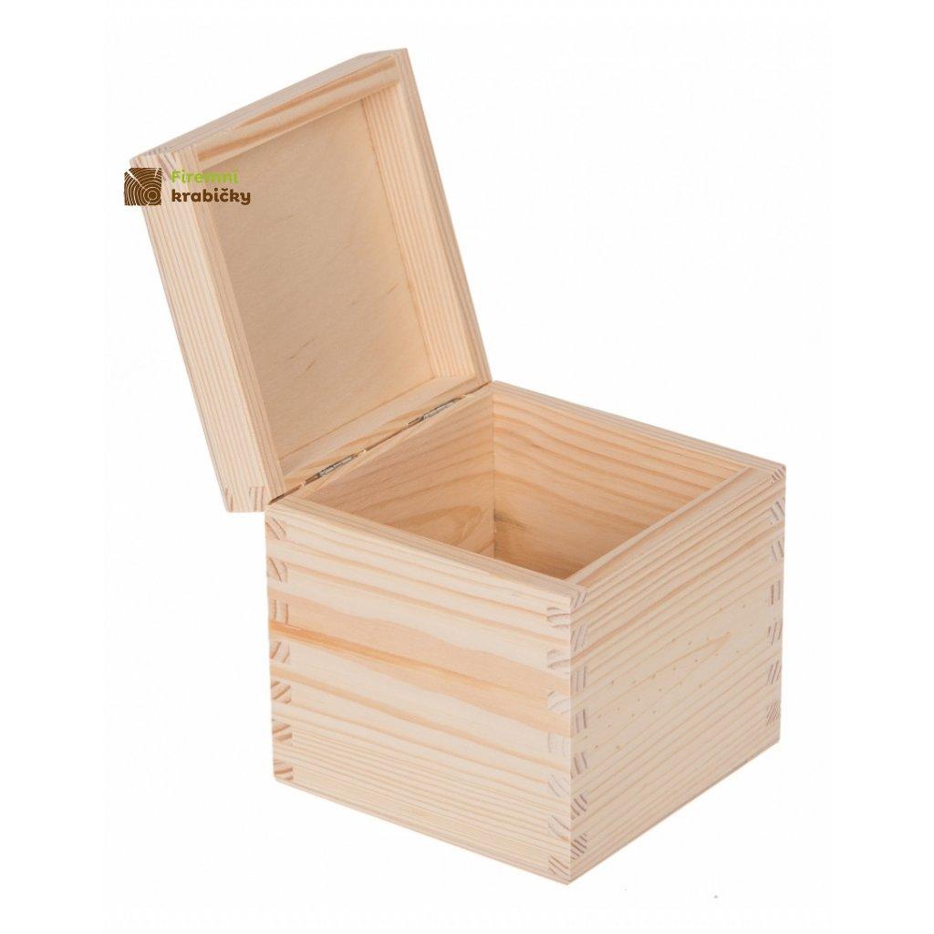 13424 drevena krabicka 13x13x13 5cm