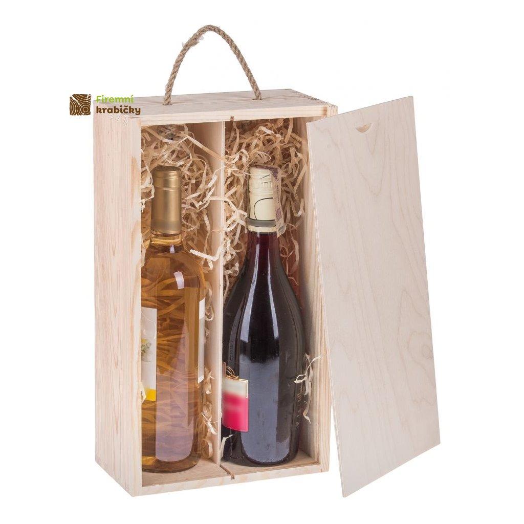 pudelko drewniane pojemnik na 2 wina carmen vi