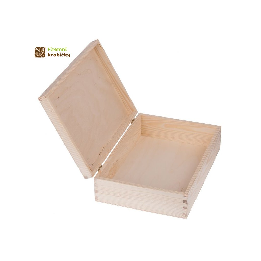 drewniane pudelko pojemnik 25x35 cm