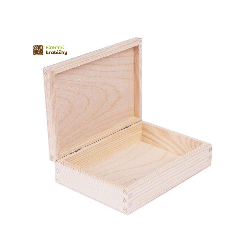 drewniane pudelko pojemnik 17x12 cm