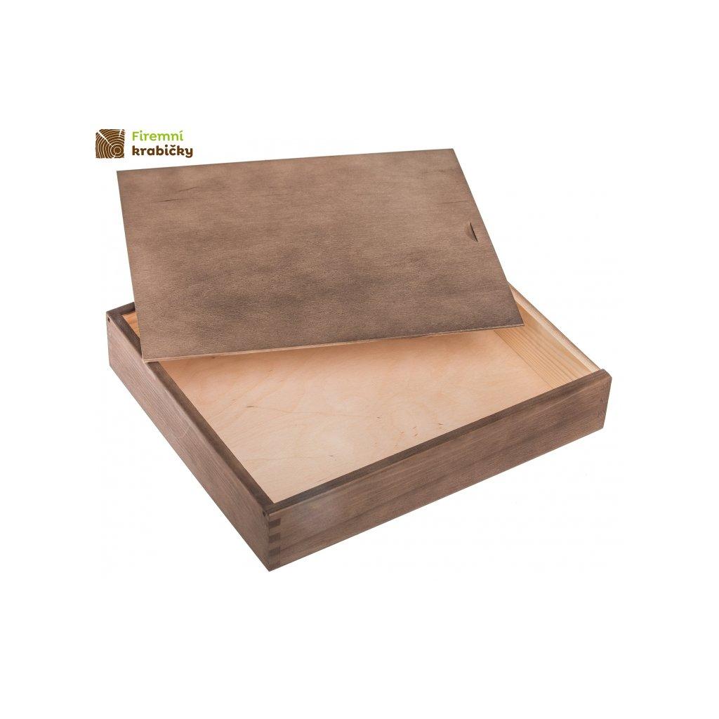 drewniane pudelko na album 26x31cm ciemmny braz