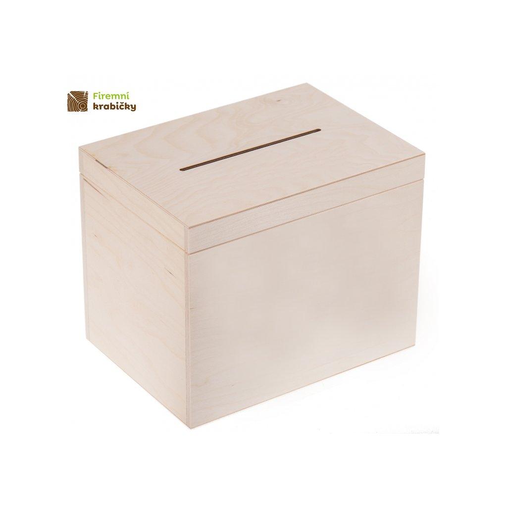drewniana skrzynia skrzynka na koperty 29x20x23cm bez zamka