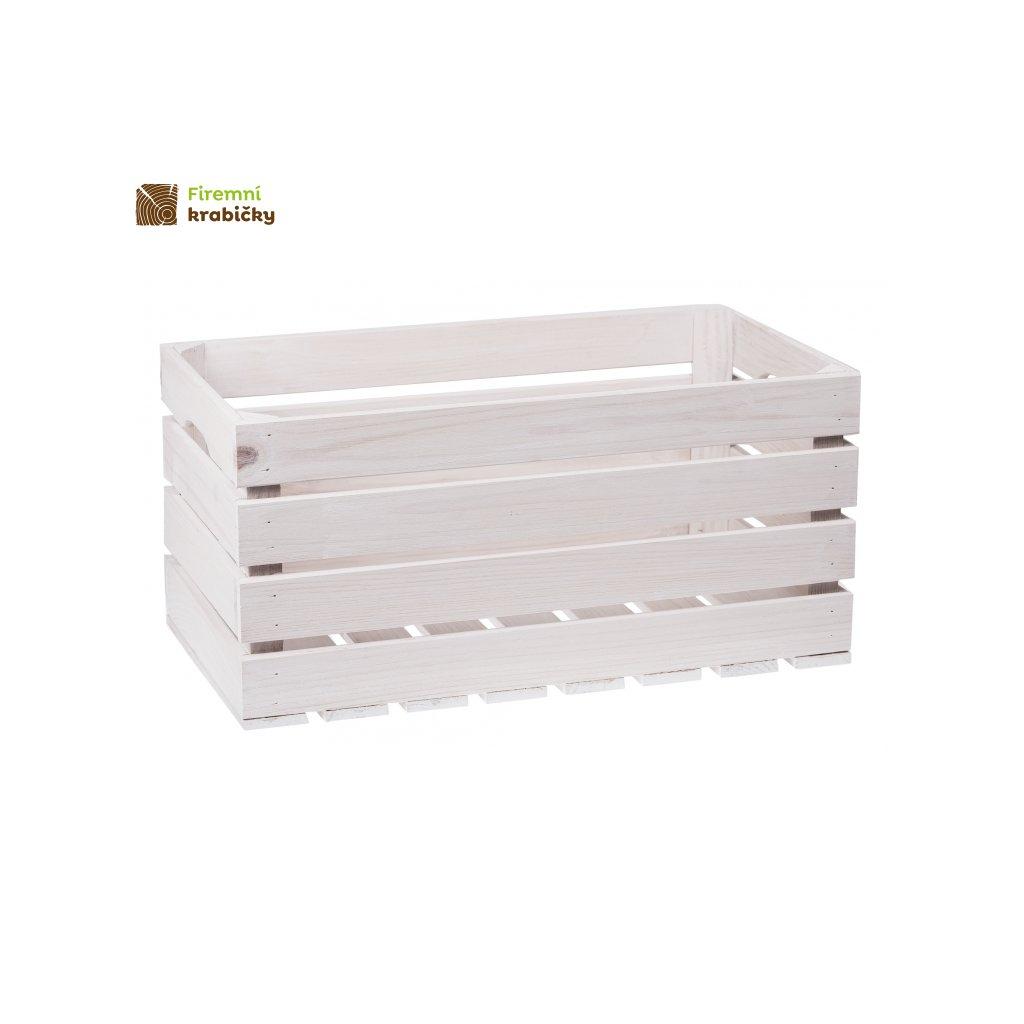 biala skrzynka drewniana 50x27x255 cm