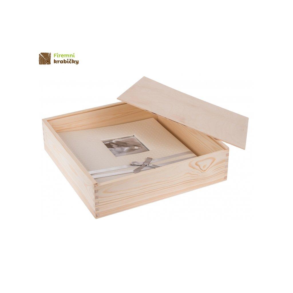 drewniane pudelko na album 355cm