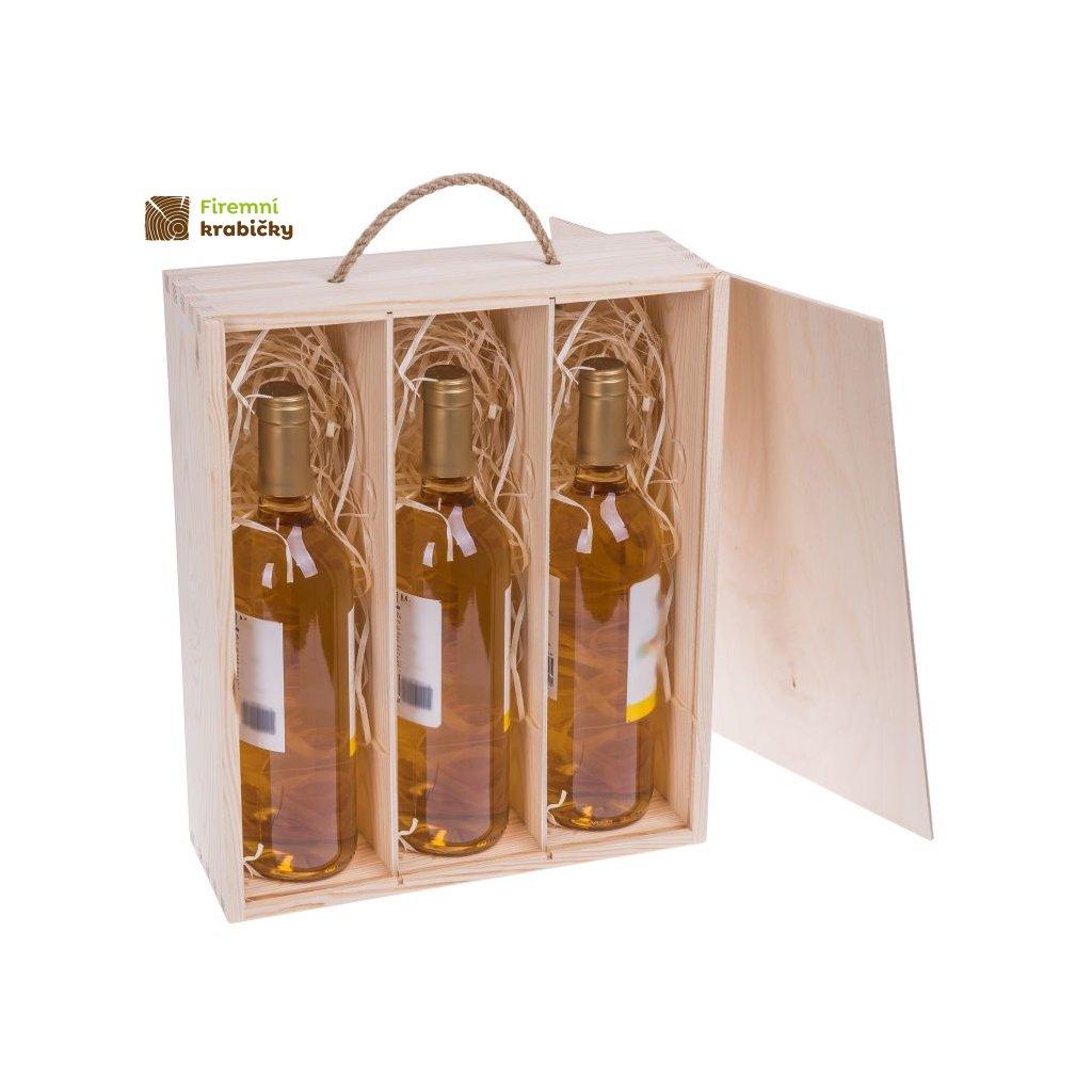 drewniane pudelko na 3 wina carmen ix