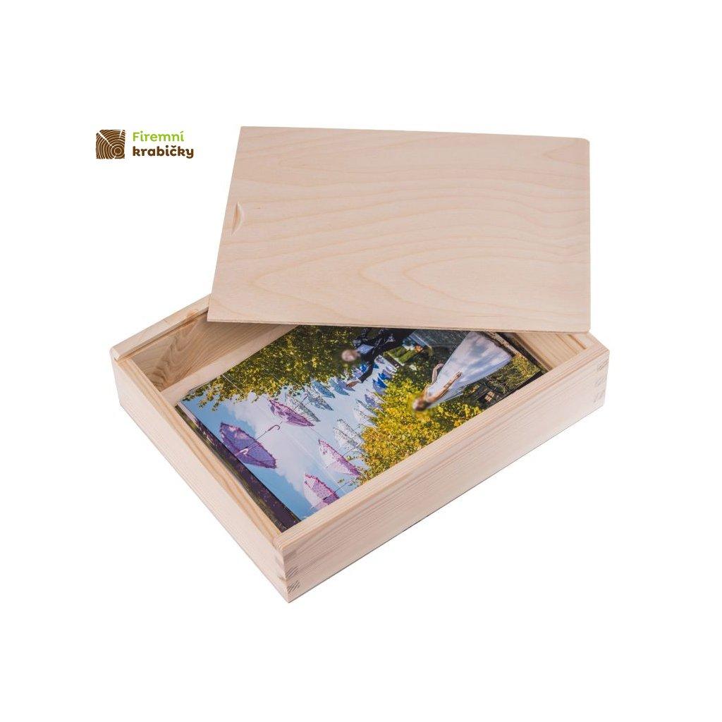 drewniane pudelko na zdjecia 15x23 cm